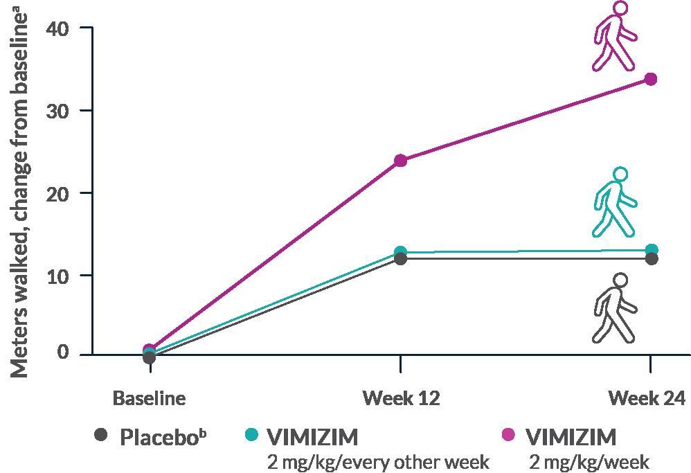 Endurance with VIMIZIM vs placebo at 24 weeks